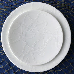 Starfish White Appetizer Plate and Salad Plate