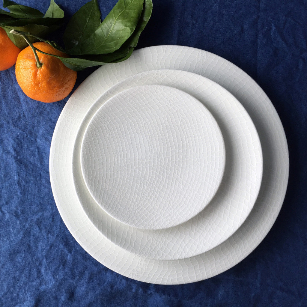 Catch White Canapé Plates Boxed Set/4 - Caskata