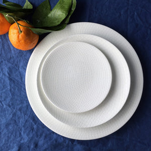 Catch Netting White Dinner, Accent Dessert Plate and Appetizer Plate