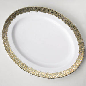 Ellington Shimmer Platinum and Gold Large Oval Serving Platter