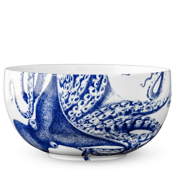 Blue Lucy Wide Bowl Blue and White Caskata