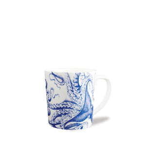 Blue Lucy Octopus Wide Coffee Mug