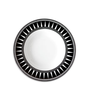 "Marrakech 9"" Rimmed Soup Bowl -  Black - Caskata"