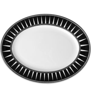 Marrakech 16 in. Rimmed Oval Platter - Caskata