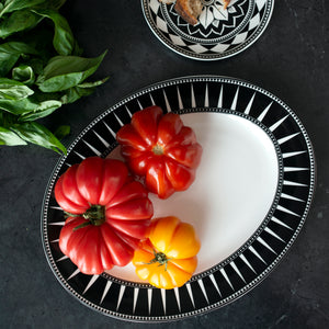Marrakech 14 in Rimmed Oval Platter