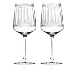 Marrakech Red Wine Glasses Set/2 - Caskata
