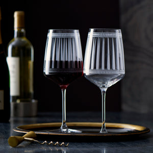 Marrakech Red Wine Stemmed Glasses Set of 2 from Caskata