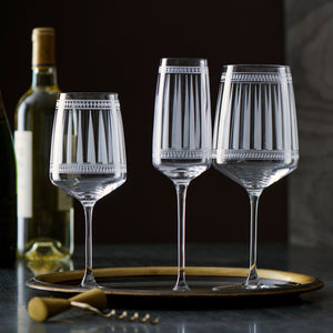 Marrakech Crystal Stemware Collection from Caskata White Wine, Champagne, and Red Wine