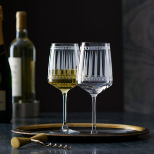 Marrakech White Wine Glasses -  Stem - Caskata
