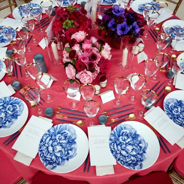 Peony Blue Limited Edition Coupe Dinner Plate & Peony Blue Limited Edition Coupe Dinner Plate - Caskata