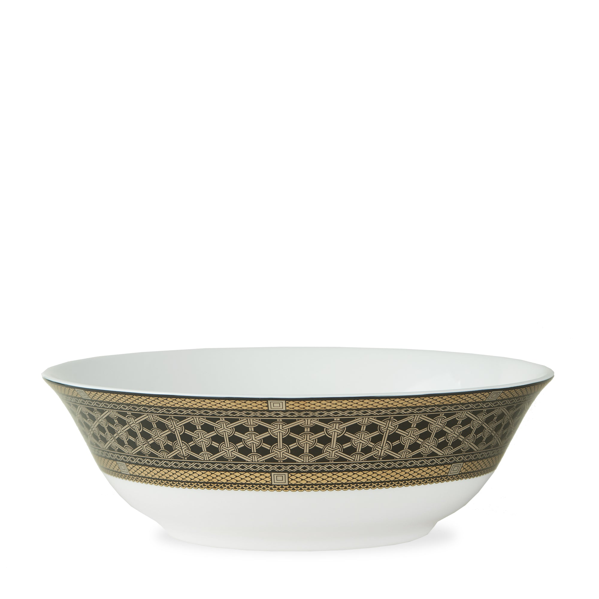 Hawthorne Onyx Gold & Platinum Medium Serving Bowl - Caskata