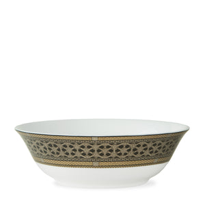 Hawthorne Onyx - Gold, Platinum & Black Serving Bowl - Caskata
