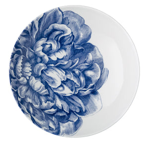 Peony Blue Wide Serving Bowl Overhead from Caskata
