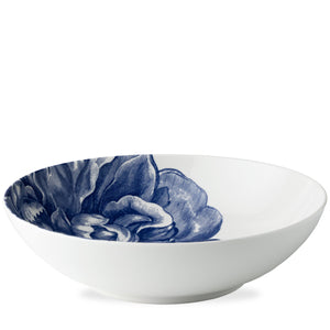 Peony Blue Wide Serving Bowl Profile from Caskata