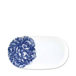 Peony Blue Small Coupe Oval Platter
