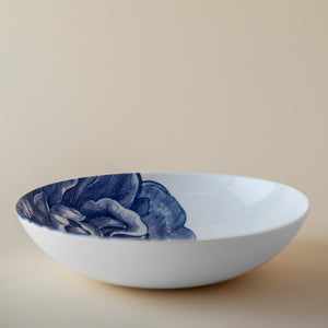 Blue Peony Floral Soup or Pasta Bowl