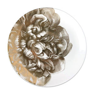 Peony Gold Coupe Dinner Plate