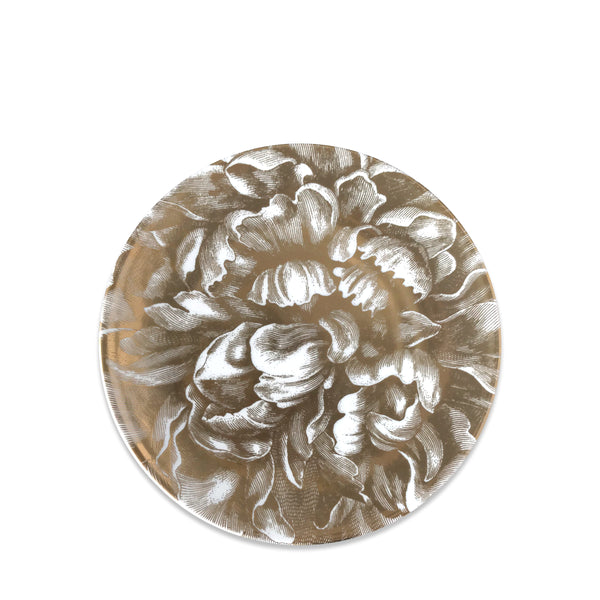 Peony Gold Coupe Salad Plate
