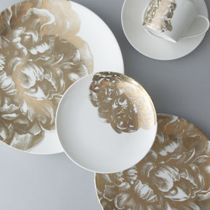 Peony Gold 5 Piece Place Setting