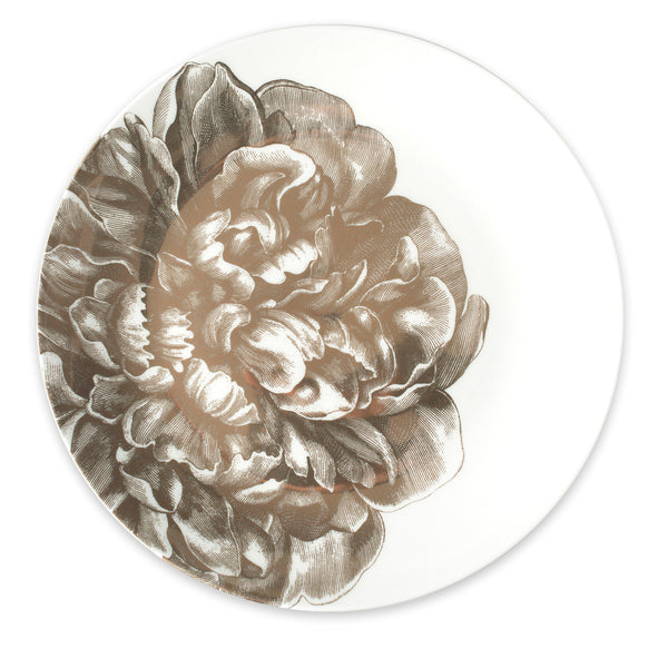 Peony Gold Coupe Round Platter