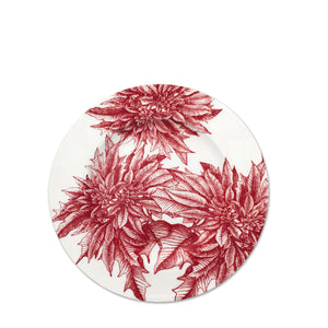 Poinsettia Red Alternate Full Coverage Salad Plate