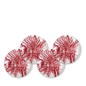 Poinsettia Appetizer Plates Set/4