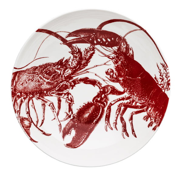 Red Lobster Serving Bowl from Overhead by Caskata