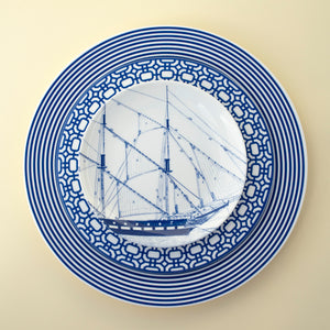 Rigging Blue Appetizer Plate with Newport Dinner and Salad