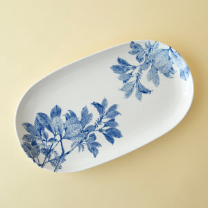 Arbor Blue Small Coupe Oval Platter