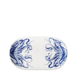 Blue Lucy Octopus Small Coupe Oval Platter