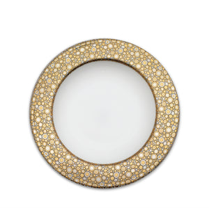 Ellington Shimmer- Gold & Platinum Rimmed Soup Bowl