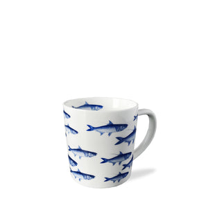School of Fish Blue 14oz Wide Mug