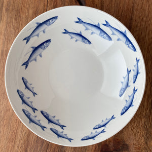 School of Fish Wide Serving Bowl - Caskata