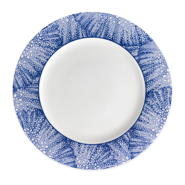 Sea Fan Blue Dinner Plate