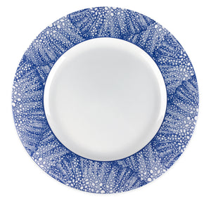 Sea Fan Blue Charger Plate