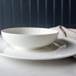Simply Caskata Plain White Charger Plate and Coupe Soup Bowl