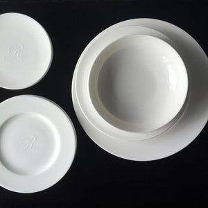 Simply Caskata Plain White Charger Plate, Coupe Soup Bowl, Salad and Appetizer Plates