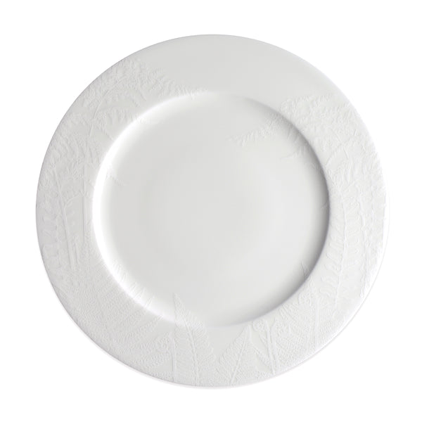 Spring Ferns White Dinner Plate