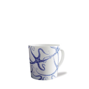 Starfish Blue Wide Coffee Mug