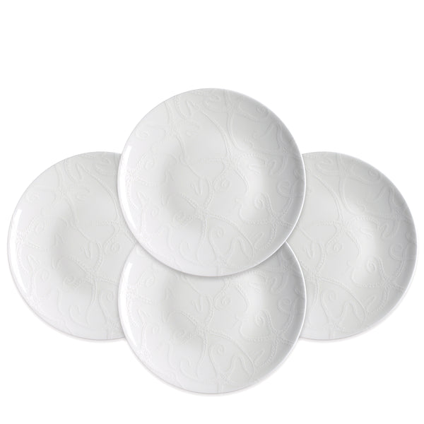 Starfish White Accent Dessert Plates Set of 4