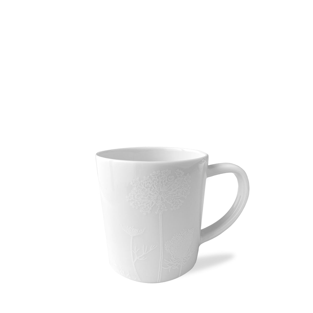 "Summer 4"" Wide Mug - WHITE - Caskata"