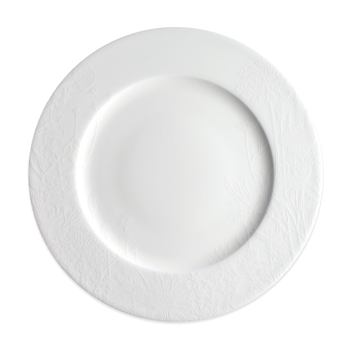 "Summer 10.75"" Rimmed Dinner - WHITE - Caskata"