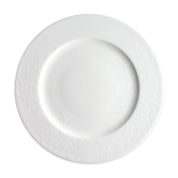 Summer White 10.75 in Dinner Plate**