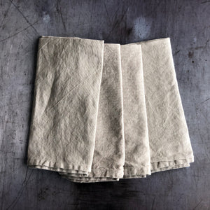 Taupe Napkin Set of 4 in Linen Cotton Blend