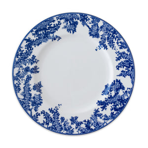 Toile Tales Dinner Plate in Collaboration with Colonial Williamsburg in Blue and White Floral on Bone China