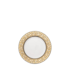 Ellington Shimmer- Gold & Platinum Bread & Butter Plate - Caskata
