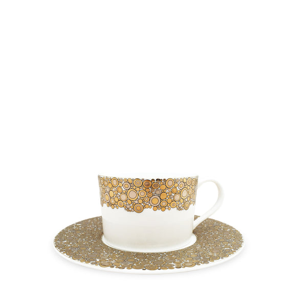 Ellington Shimmer (Gold) Tea Cup and Saucer
