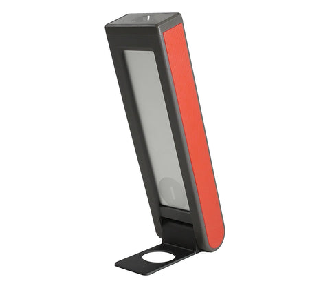 red solar flashlight for camping or power outages