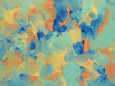 """Orange and Blue""    36"" x 48"""