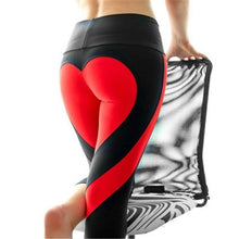 Load image into Gallery viewer, Women Special Design Love Yoga Leggings Heart Booty Pants Running Tights Crop Workout Pants FV0158